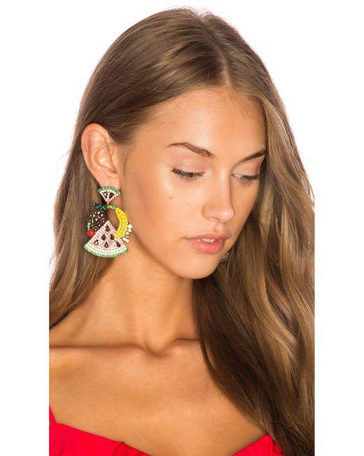 Elizabeth Cole | Multicolor Fruit Salad Statement Earrings | Lyst