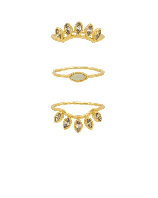Gorjana - Metallic Rumi Burst Ring Set - Lyst