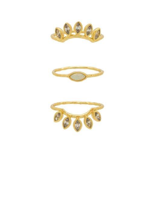 Gorjana - Metallic Rumi Burst Ring Set - Lyst