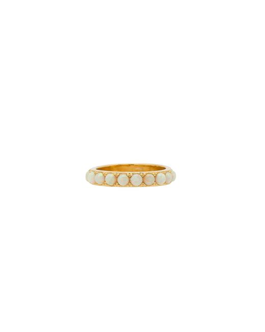 Five And Two - Isla Stoned Band Ring In Metallic Gold - Lyst
