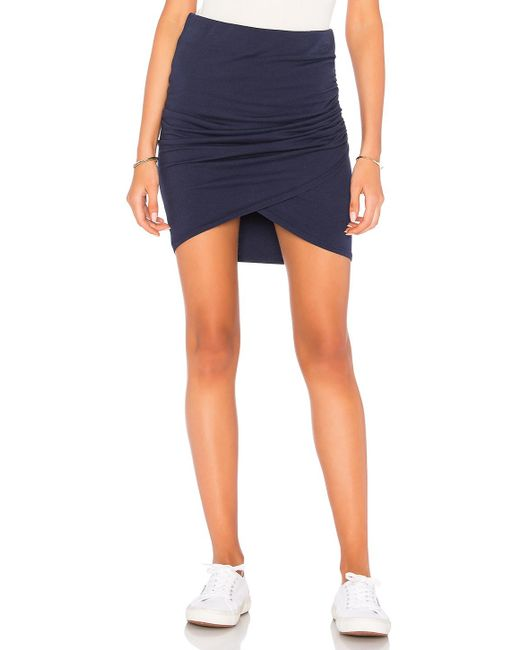 Michael Stars | Blue Cross Front Mini Skirt | Lyst