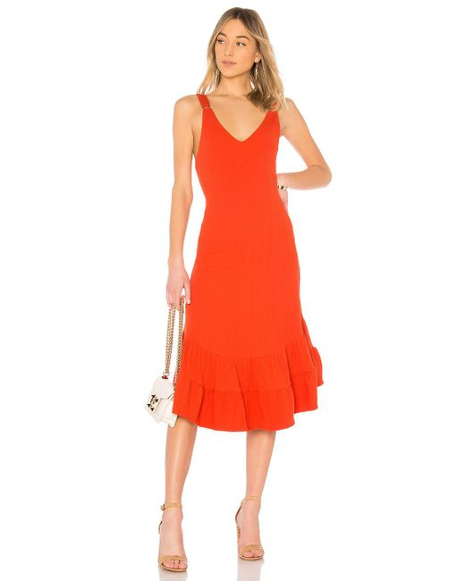 Free People - Red Into You Maxi Dress In Burnt Orange - Lyst
