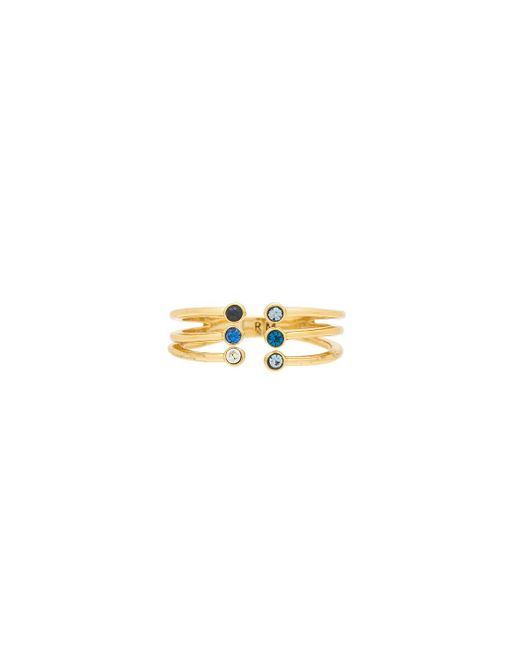 Rebecca Minkoff - Ombre Bubble Claw Ring In Metallic Gold. - Lyst