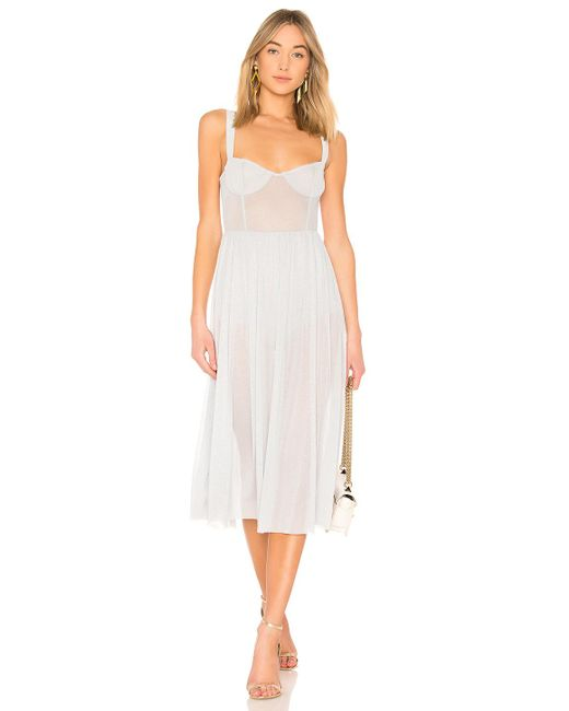 MAJORELLE - White Rina Dress - Lyst
