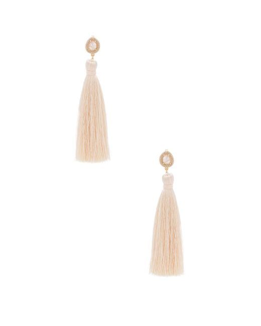 Melanie Auld | Pink Tassel Slice Earring | Lyst