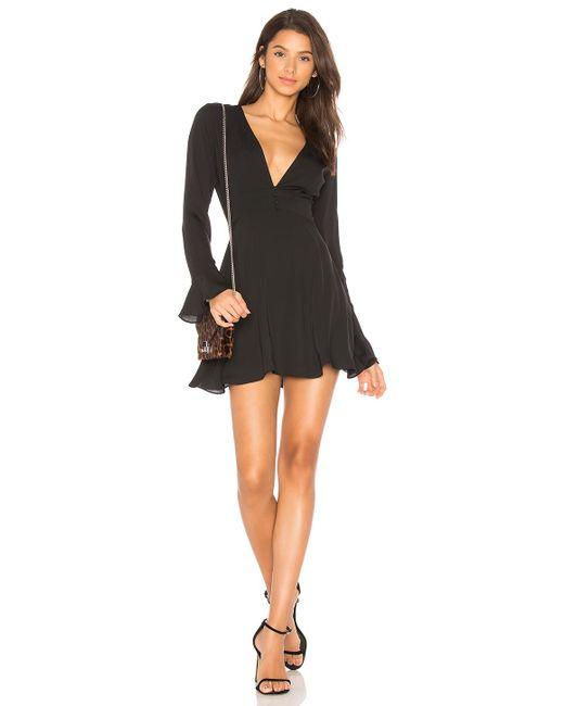 Amanda Uprichard - Black Button Front Dress - Lyst