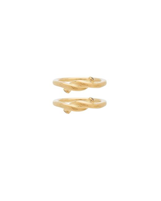 Elizabeth and James   Metallic Tammy Ring Set Of 2   Lyst
