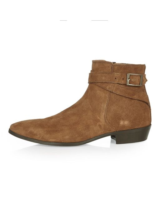 river island suede ankle boots in brown lyst