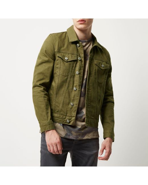 Dark Green Denim Jacket | Outdoor Jacket