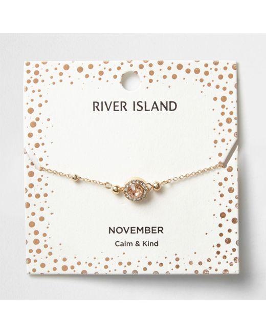 River Island   Orange Gem November Birthstone Bracelet   Lyst
