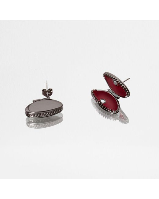 River Island | Green Design Forum Fly Stud Earrings | Lyst