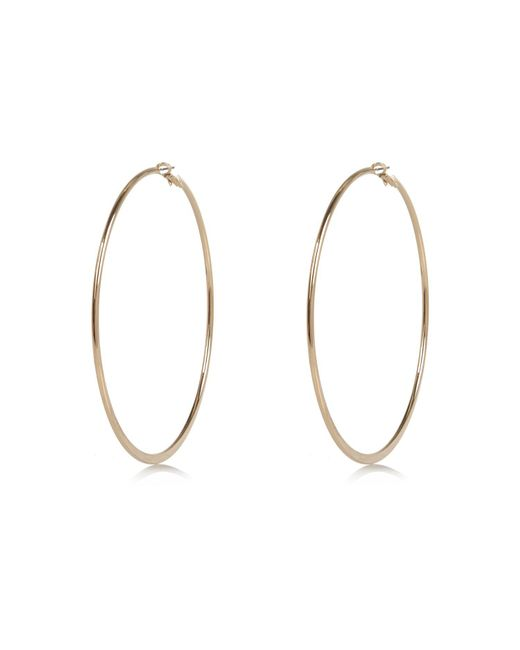 River Island | Metallic Gold Tone Oversized Hoop Earrings | Lyst