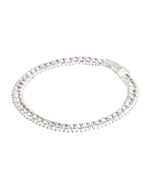 River Island | Metallic Silver Tone Diamante Bracelet | Lyst