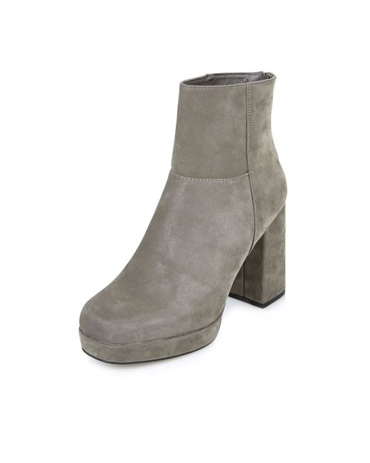 river island grey nubuck platform boots in grey lyst