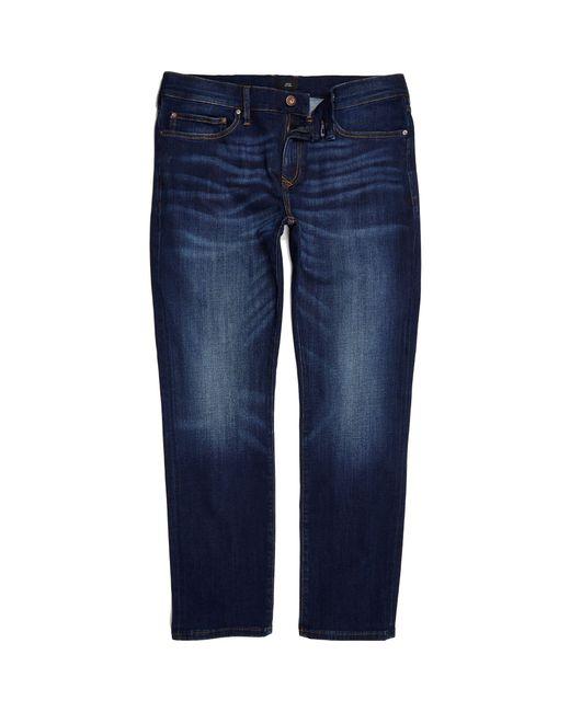 River Island - Dark Blue Slim Fit Dylan Jeans for Men - Lyst