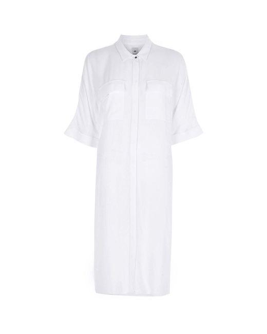 River Island   White Midi Shirt Dress   Lyst