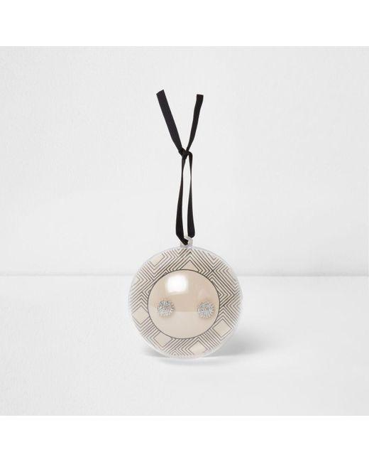 River Island | Metallic Silver Tone Diamante Bauble Stud Earrings Silver Tone Diamante Bauble Stud Earrings | Lyst