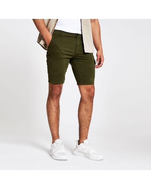 really cheap hottest sale select for genuine Men's Green Utility Skinny Shorts