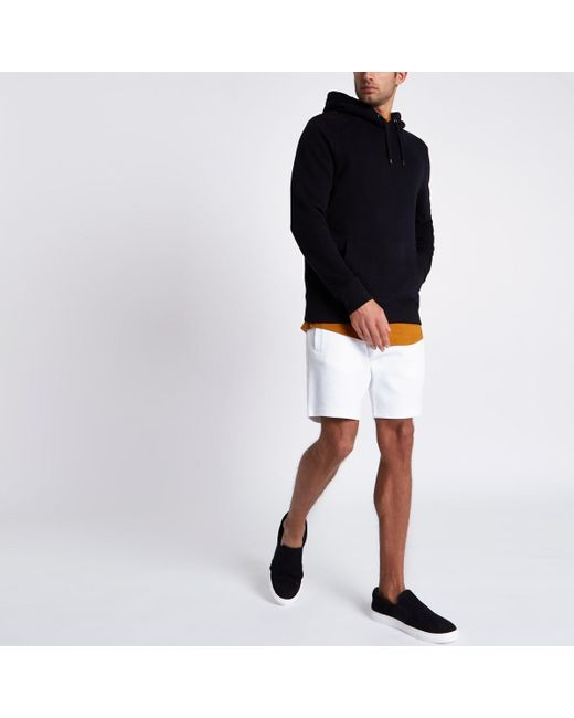 River Island - White Pique Shorts for Men - Lyst