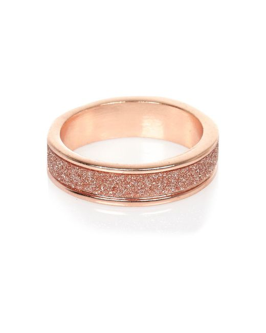 River Island | Pink Rose Gold Tone Glitter Ring | Lyst