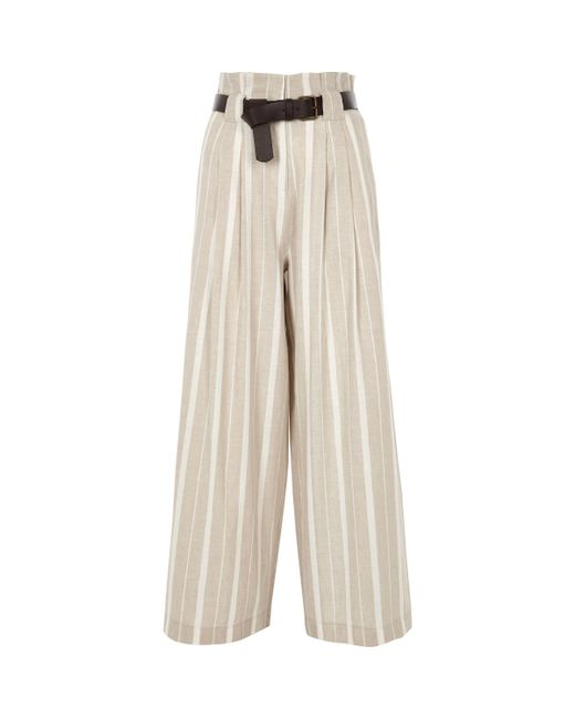 Womens Petite Pink belted wide leg trousers River Island ZOzOO