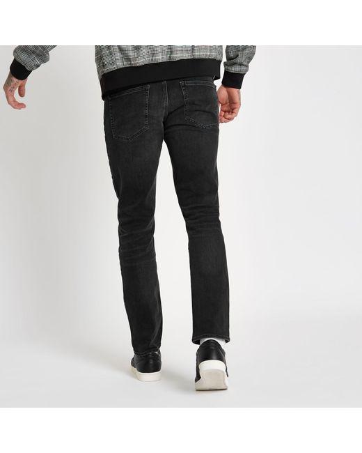 95c825bb3 ... River Island - Black Fade Detail Dylan Slim Fit Jeans for Men - Lyst