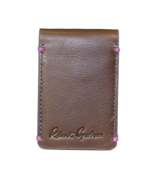Robert Graham - Brown Salamon Magnetic Cardcase for Men - Lyst