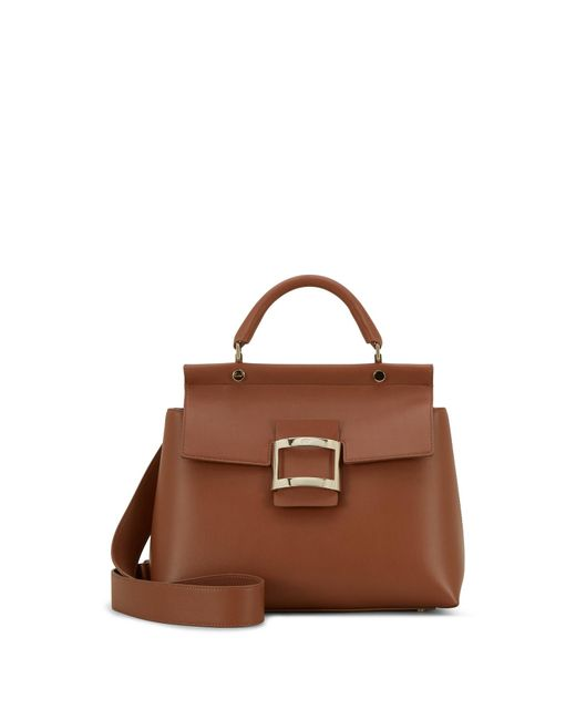 Roger Vivier - Brown Small Viv' Cabas In Leather - Lyst