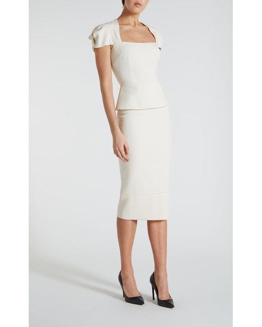 Roland Mouret - White Galaxy Skirt - Lyst