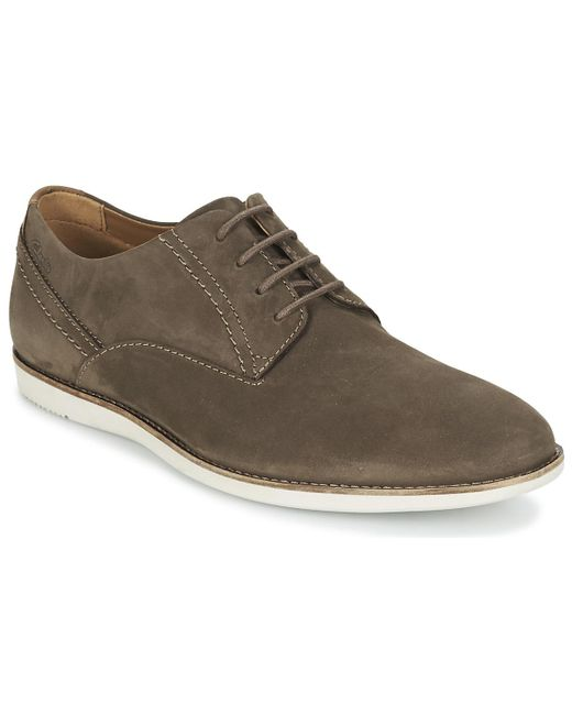 Clarks | Brown Franson Plain Casual Shoes for Men | Lyst