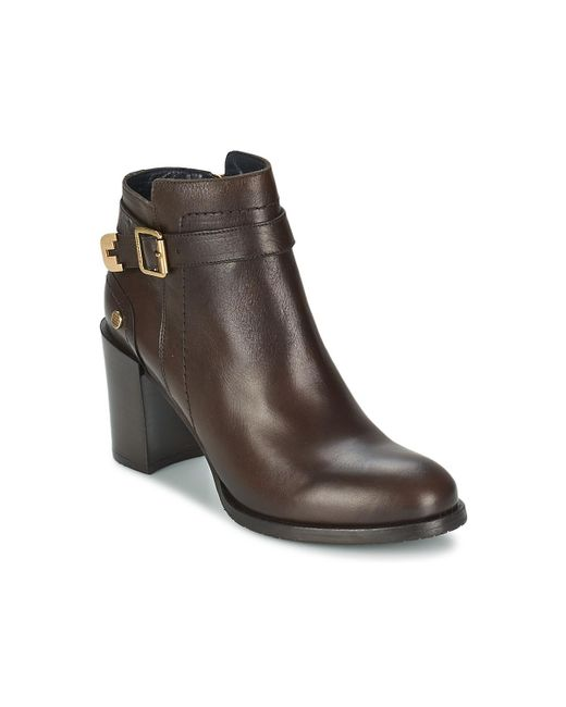Tommy Hilfiger | Brown Penelope 3a Low Ankle Boots | Lyst