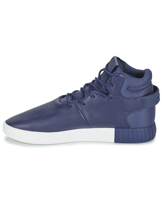 Invasor tubular Lyst Adidas zapatos (High Top trainers) en azul para