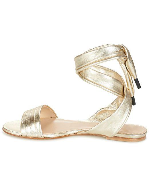 ... Sonia Rykiel | Metallic 627143 Sandals | Lyst ...