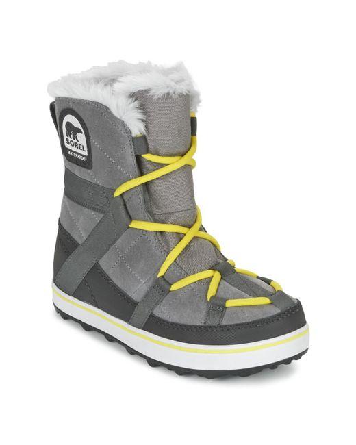 Sorel | Gray Glacy Explorer Shortie Snow Boots | Lyst