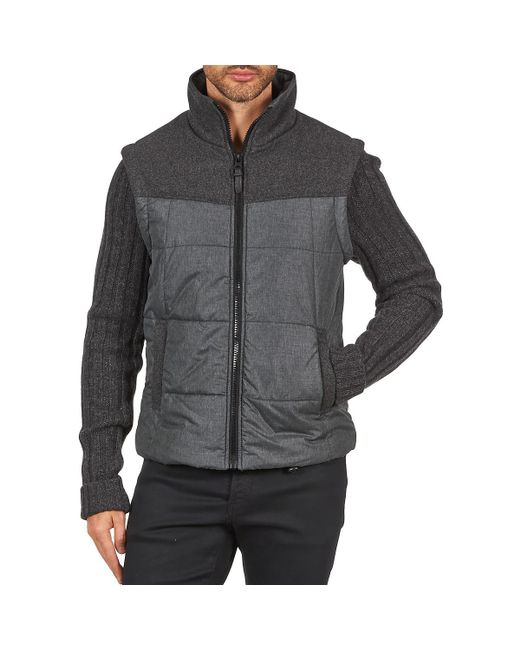 Esprit - Gray Ny/knit Mix Jkt Jacket for Men - Lyst