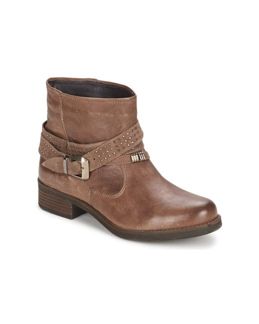 Keys - Brown Close Mid Boots - Lyst