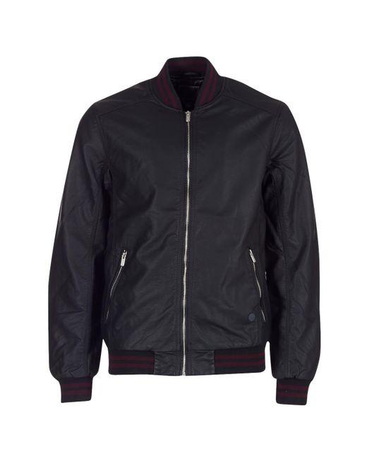 Bench | Black Pu Baseball Leather Jacket for Men | Lyst