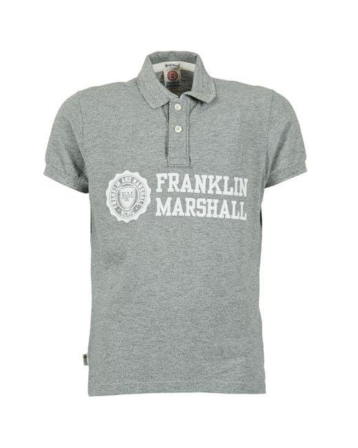 Franklin & Marshall - Gray Aylen Polo Shirt for Men - Lyst