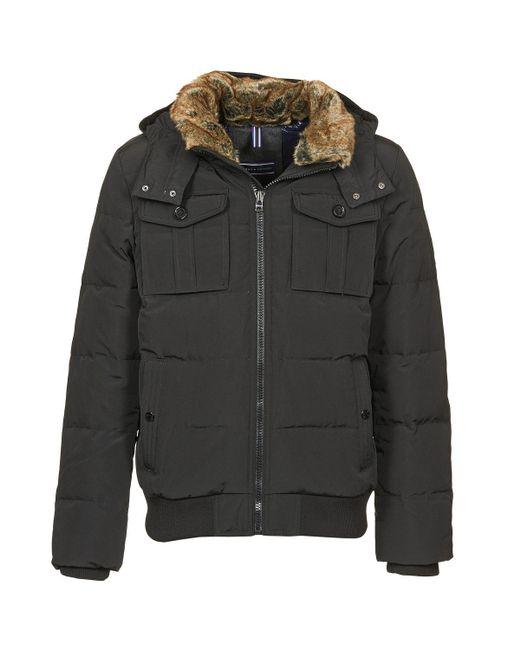 Tommy Hilfiger | Black Doug Bomber Jacket for Men | Lyst