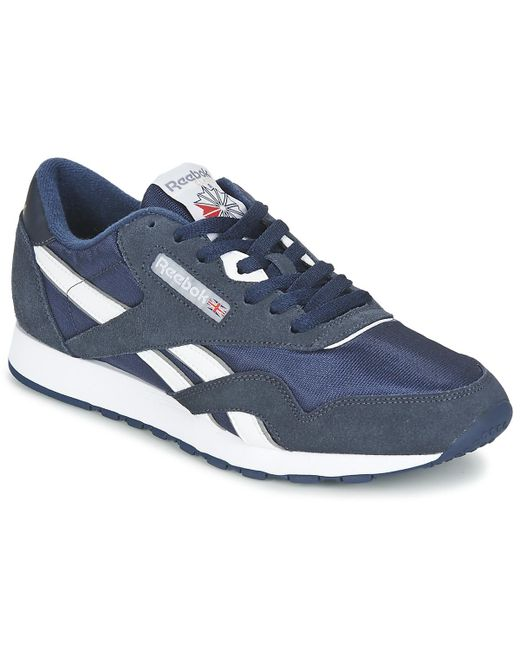 3a4cf3470fe3 Reebok - Classic Nylon Men s Shoes (trainers) In Blue for Men - Lyst ...