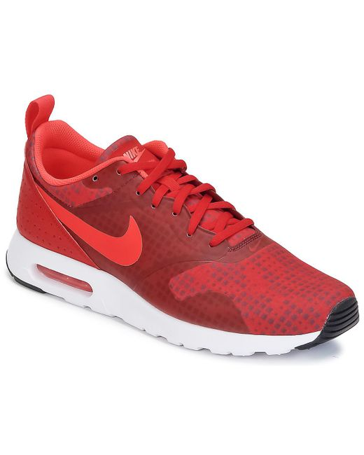 Nike - Red Air Max Tavas Print Shoes (trainers) for Men - Lyst