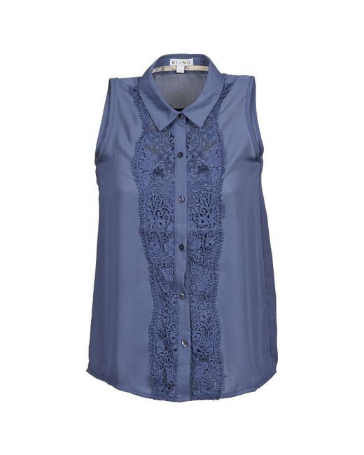 Kling - Blue Albarella Chiffon Blouse - Lyst