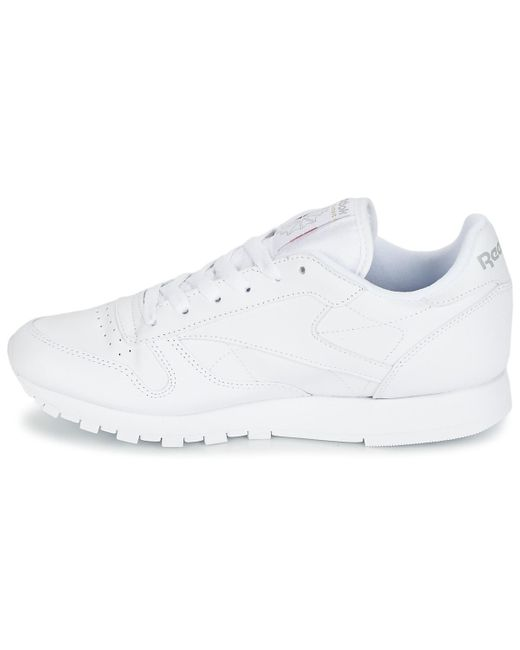 bbc457fc969 ... Reebok - White Classic Leather Shoes (trainers) - Lyst ...