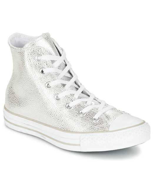 cccaa35725fd95 Converse - Metallic Chuck Taylor All Star Cuir Hi Shoes (high-top Trainers)  ...