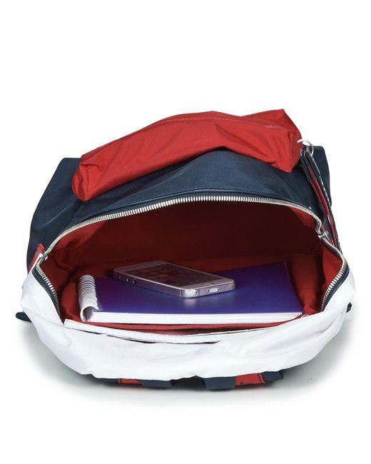 6c3f5d8d84d ... Tommy Hilfiger - Blue Tju Logo Tape Med Backpack - Lyst ...