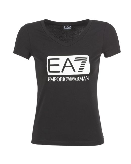 EA7 | Black Founarola T Shirt | Lyst