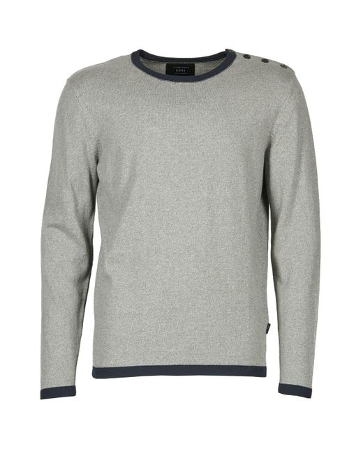 Jack & Jones - Gray Plain Core Sweater for Men - Lyst