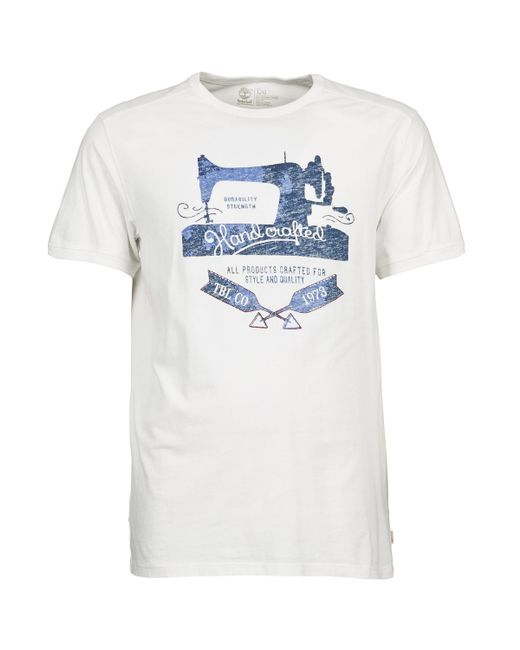 Timberland - White Ss Handcrafted T T Shirt for Men - Lyst