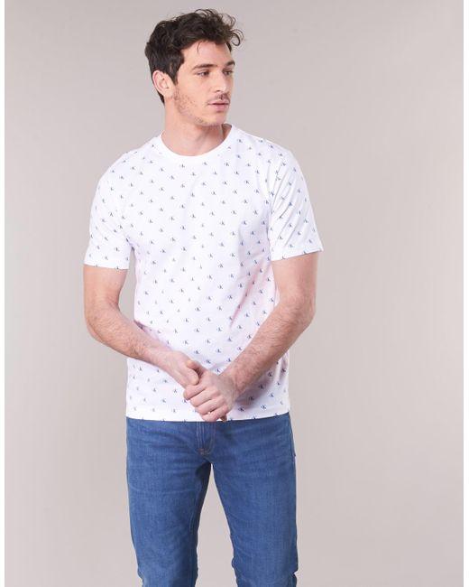 42d0b216e6ce ... Calvin Klein - White Monogram Aop Reg Tee T Shirt for Men - Lyst ...
