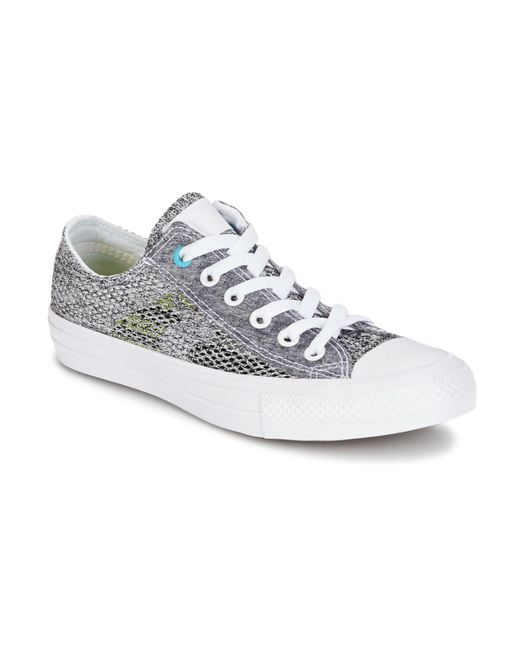 baf1c382f286b Converse - Gray Chuck Taylor All Star Ii Open Knit Ox Shoes (trainers) ...